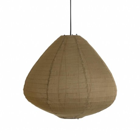 HK-living Lampion khaki bruin stof Ø65x58cm
