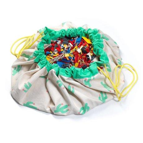 Play & go Opbergzak/speelkleed The cactus limited edition multicolour katoen Ø140cm