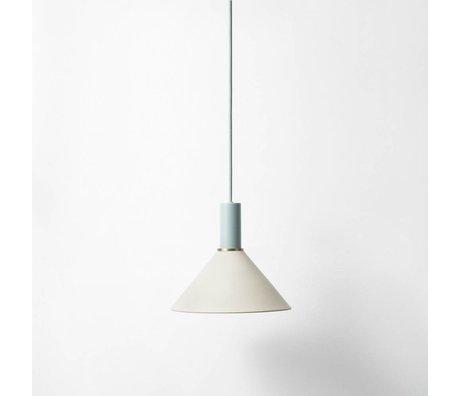 Ferm Living Hanglamp Cone low licht grijs dusty blauw metaal