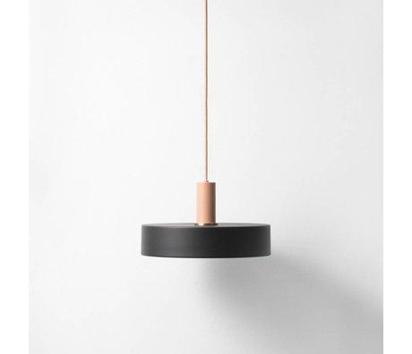Ferm Living Hanglamp Record low zwart roze metaal