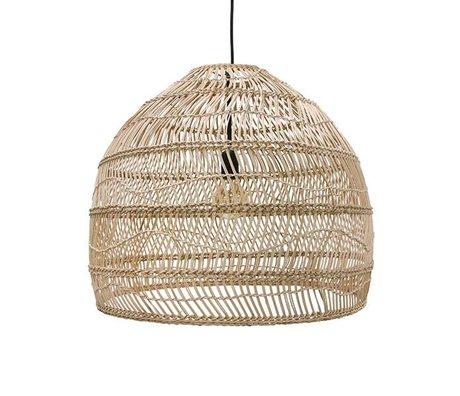 HK-living Hanglamp handgevlochten beige riet 60x60x50cm