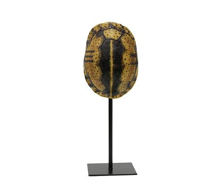 HK-living Kunstmatige schildpaddenschild geel zwart kunststof 12x11,5x32cm