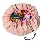 Play & go Opbergzak/speelkleed Pink Elephant by ALLC roze katoen Ø140cm