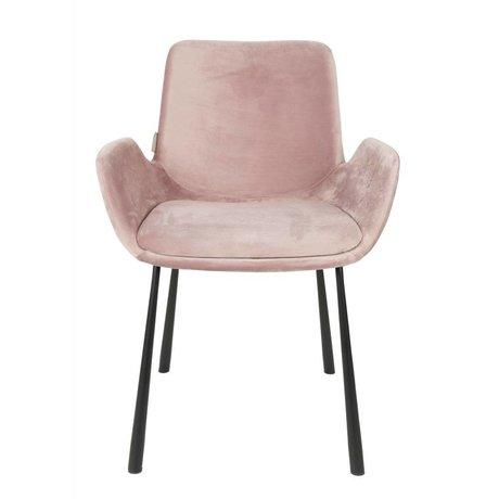 Zuiver Eetkamerstoel Brit roze polyester 59x62x79cm