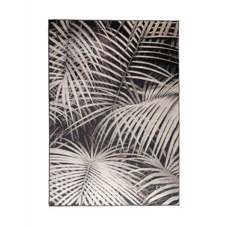Zuiver Vloerkleed Palm by night zwart textiel 240x170cm