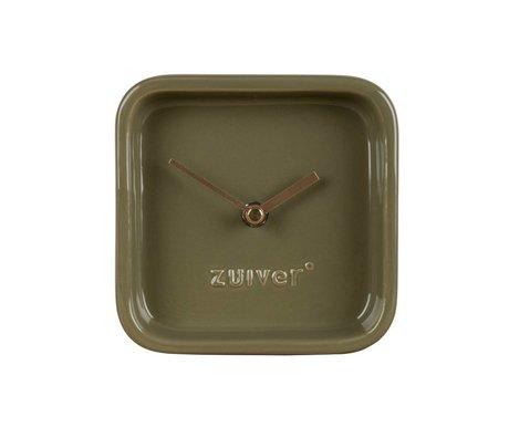 Zuiver Klok Cute groen keramiek 13,5x6x13,5cm