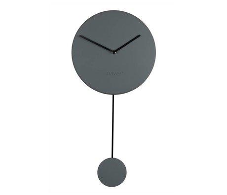 Zuiver Wandklok Minimal grijs kunststof 30x4x63cm