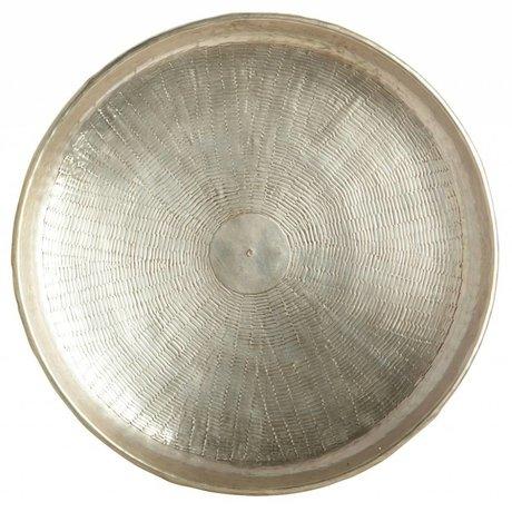 Housedoctor Dienblad Carve goud metaal Ø38cmx1,5cm
