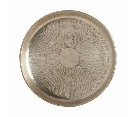Housedoctor Dienblad Carve goud metaal Ø30cmx1,5cm