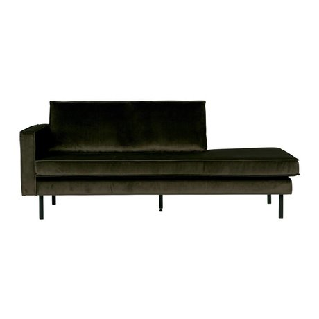 BePureHome Bank Daybed Green Hunter links groen fluweel velvet 90x216x90cm