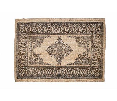BePureHome Vloerkleed Motive bruin sisal met print 180x120cm
