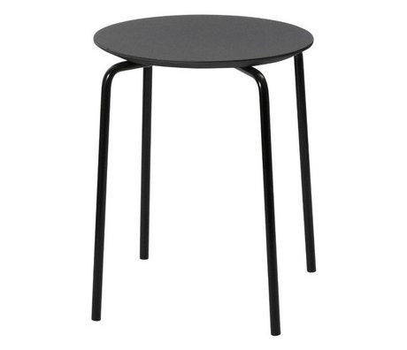 Ferm Living Kruk Herman zwart hout metaal 35,5x43x30,5cm