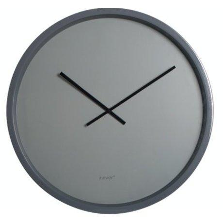 Zuiver Klok metaal grijs Ø60 cm, CLOCK TIME BANDIT GREY/GREY