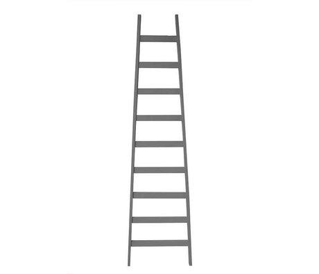 LEF collections Ladder grijs hout 56x4,5x217cm