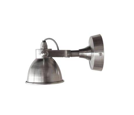 LEF collections Wandlamp Giens klein zilver metaal 11x25x12cm