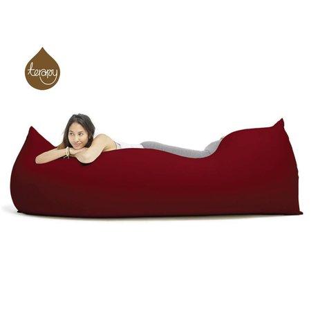 Terapy Zitzak Baloo bordeaux rood katoen 180x80x50cm 700liter