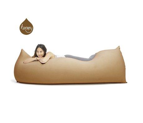 Terapy Zitzak Baloo zand/bruin katoen 180x80x50cm 700liter