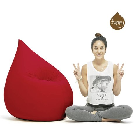 Terapy Zitzak Elly druppel rood katoen 100x80x50cm 230liter