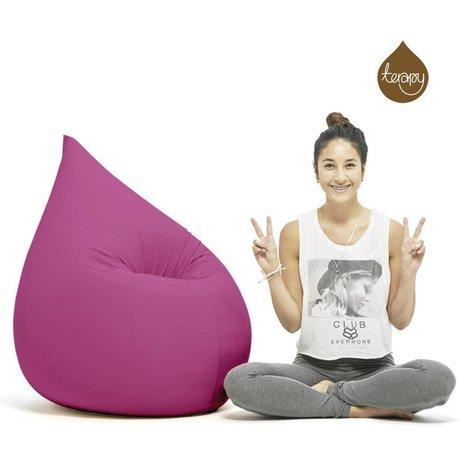 Terapy Zitzak Elly druppel roze katoen 100x80x50cm 230liter