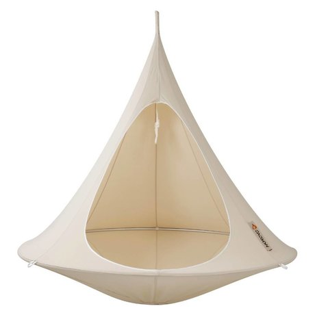 Cacoon Hangstoel tent Double 2-persoons wit 180x150cm
