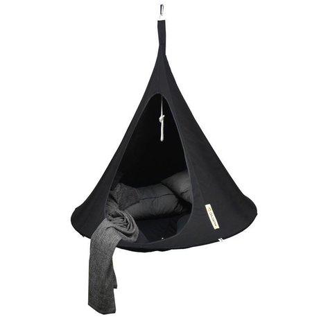 Cacoon Hangstoel tent Single 1-persoons zwart 150x150cm