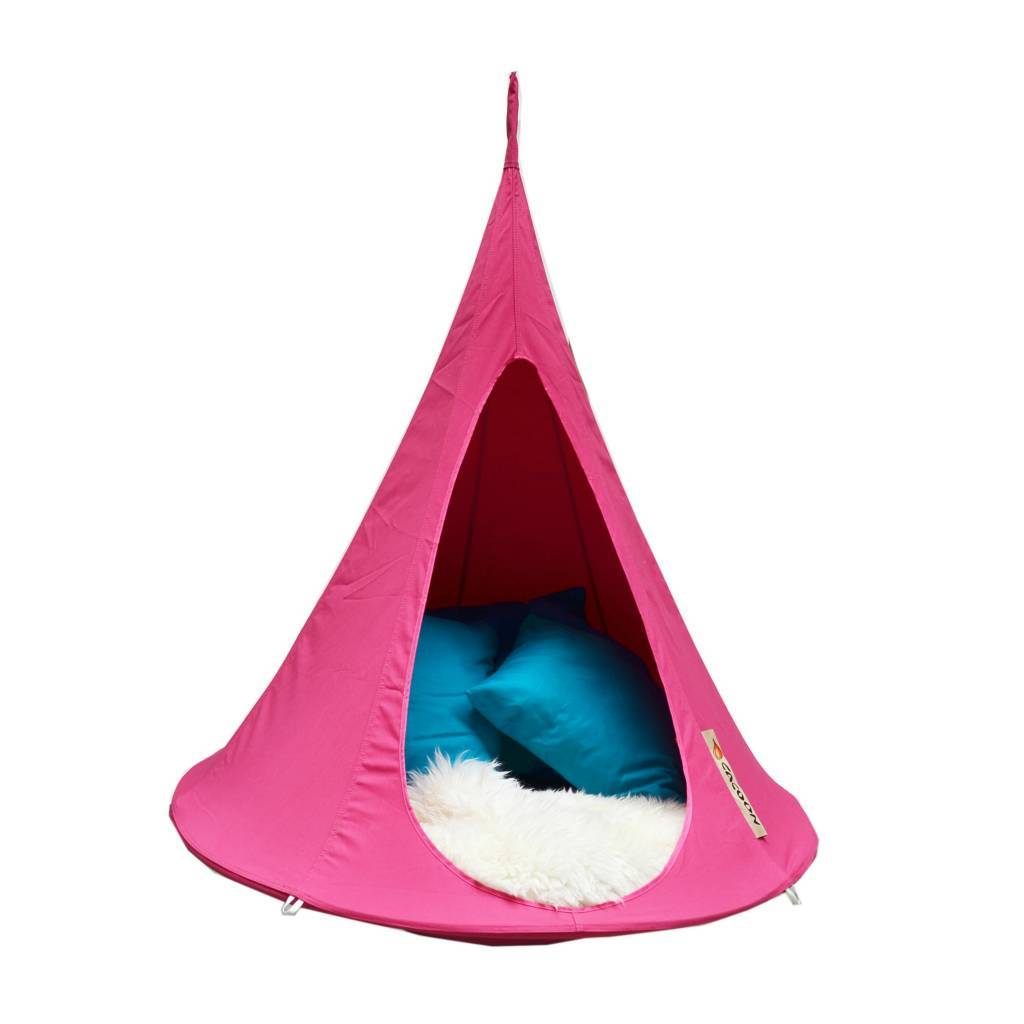 Hangstoel Voor Kinderen.Cacoon Hangstoel Tent Bonsai Fuchsia Roze 125x120x125cm Lefliving Be