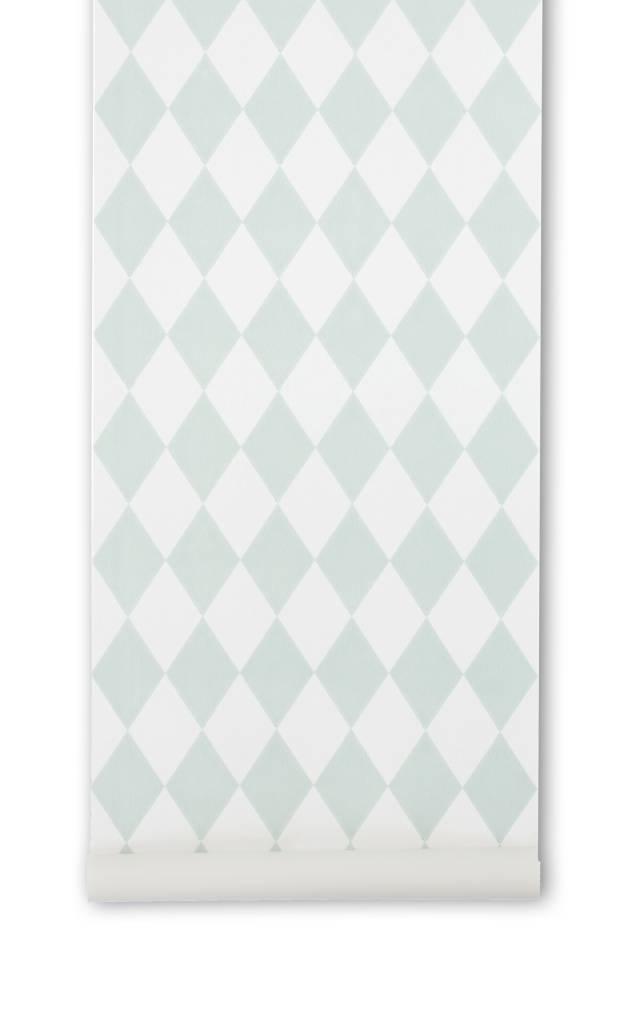 Pastel Groen Behang.Ferm Living Behang Harlequin Mint Groen Geruit 10 05x0 53m