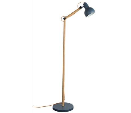 Zuiver Vloerlamp Study hout metaal donker grijs 59,5x30x166cm