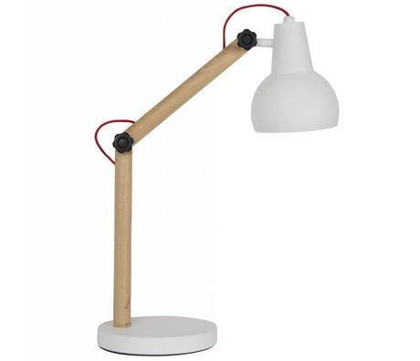 Zuiver Tafellamp Study hout metaal wit 42,5x20x72,5cm