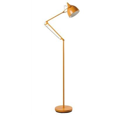 Zuiver Vloerlamp Reader metaal mat geel Ø25xH167cm
