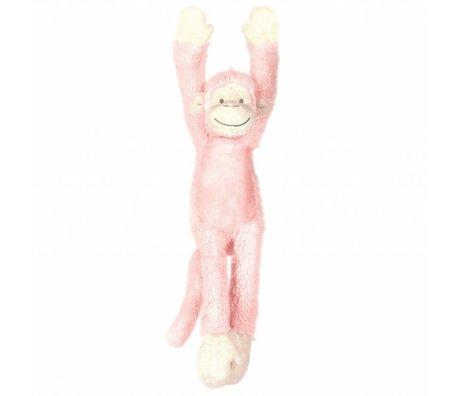 KEK Amsterdam Muursticker Monkey Mickey roze 11x37cm