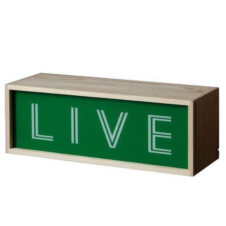 Seletti Wandlamp Lighthink box hout 30x10,5cm