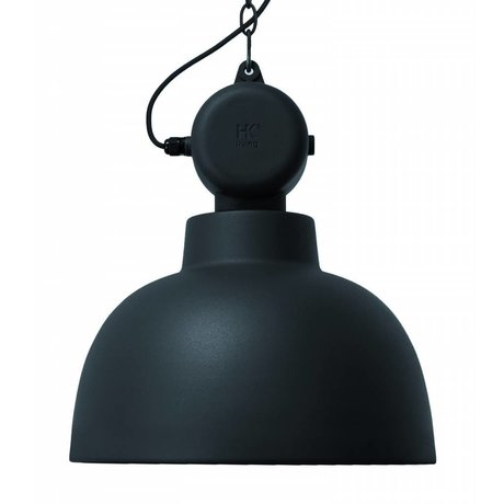HK-living Hanglamp MAT zwart Factory metaal Ø40x45cm medium