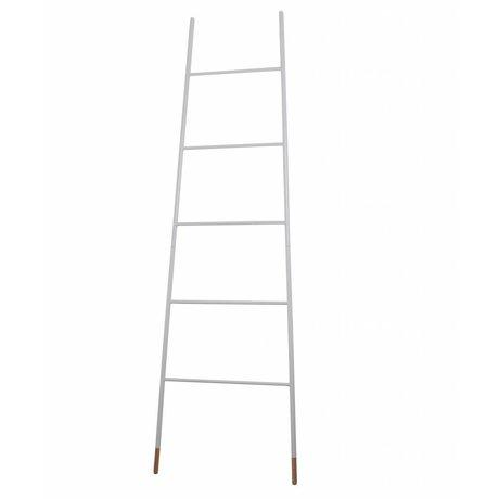 Zuiver Ladder wit met naturel rubberen voet 37/54x2x175cm