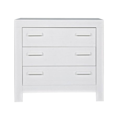 LEF collections Commode 'New life' geborsteld grenen wit 95x52x91cm