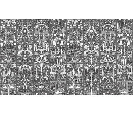 NLXL-Studio Job Behang 'Industry 01' papier 900x48.7cm grijs/wit