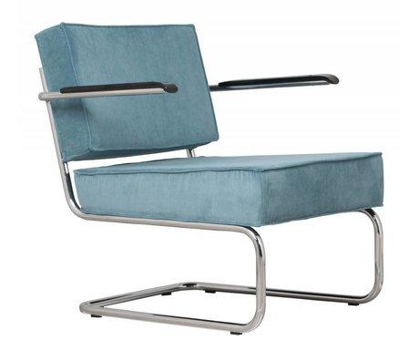 Zuiver Fauteuil lounge ridge rib arm blauw 12a 58x75x79cm
