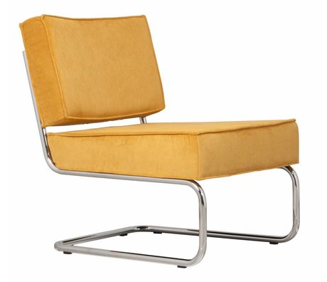 Zuiver Fauteuil lounge ridge rib geel 24a 58x75x79cm