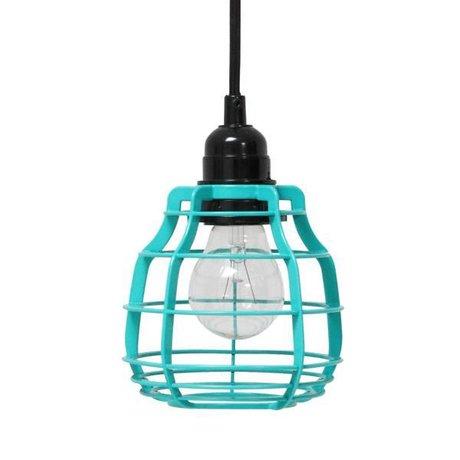 HK-living Hanglamp LAB met stekker groen Ø13x17cm,LAB pool green