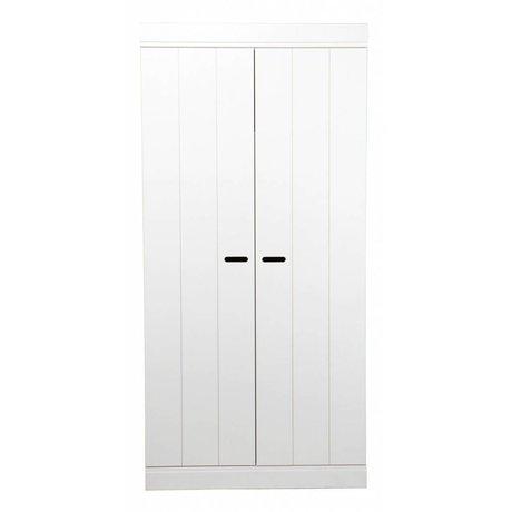 LEF collections Kledingkast 'Connect' 2 deurs strokendeur wit grenen 195X94X53cm
