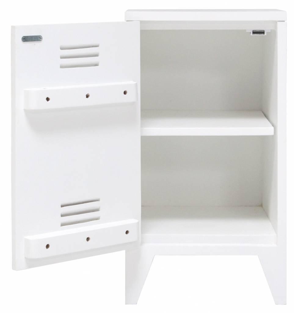 Nachtkastje Wit Met Hout.Hk Living Nachtkastje Locker Set Van 2 Wit Hout 65x36x33cm