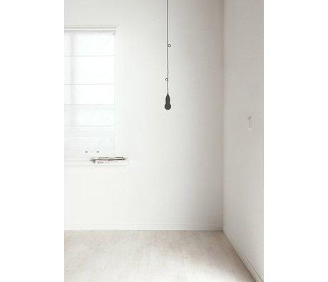 KEK Amsterdam Muursticker 'peertje' donker grijs folie 7x115 cm, Low Budget Lamp dark grey