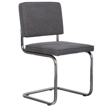 Zuiver Eetkamerstoel grijs katoen 48x48x85cm, Ridge Vintage mediocre grey
