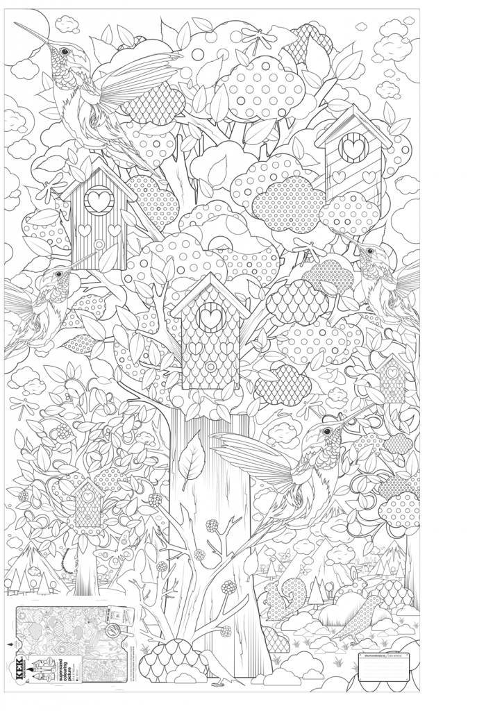 Kleurplaten Xxl.Kek Amsterdam Xxl Kleurplaat Papier Zwart Wit 91x150cm In Het Bos