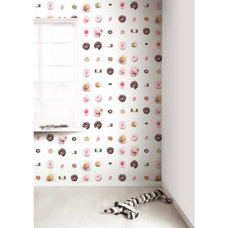 KEK Amsterdam Behang roze/wit/bruin Cakejes 8,3mx47,5cm 4m²