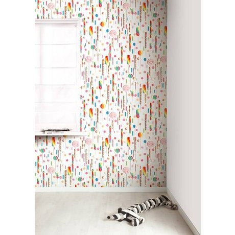 KEK Amsterdam Behang multicolour/wit Lolly's 8,3mx47,5cm 4m²