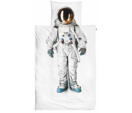 Snurk Beddengoed Dekbedovertrek Astronaut katoen 140x220cm