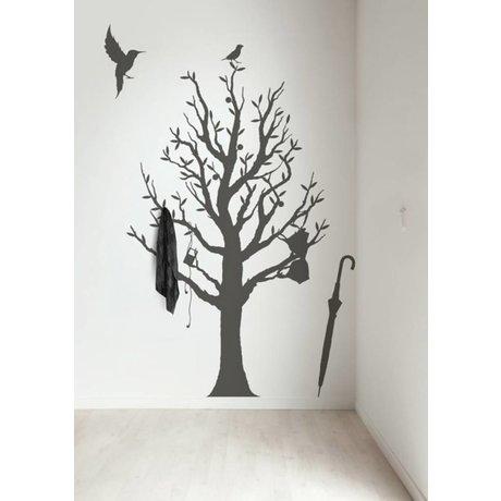 KEK Amsterdam Muursticker/Kapstok donker grijs 117x190cm Fashion Forest muurfolie