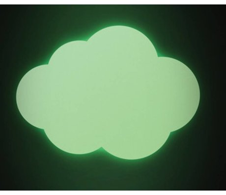 KEK Amsterdam Muursticker large glow in the dark Cloud groen muurfolie 28x20cm