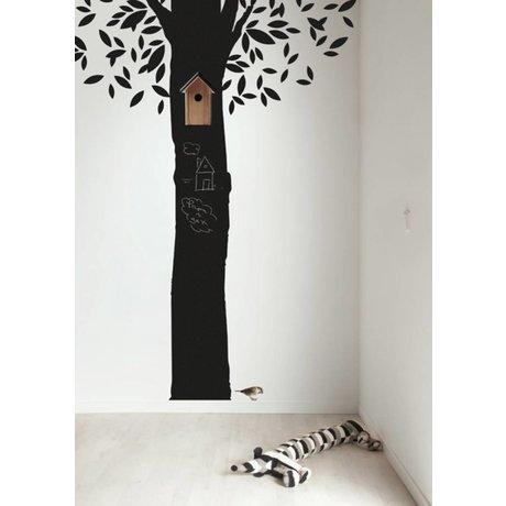 KEK Amsterdam Schoolbordsticker 185x260cm zwart Chalkboard Tree schoolbordfolie